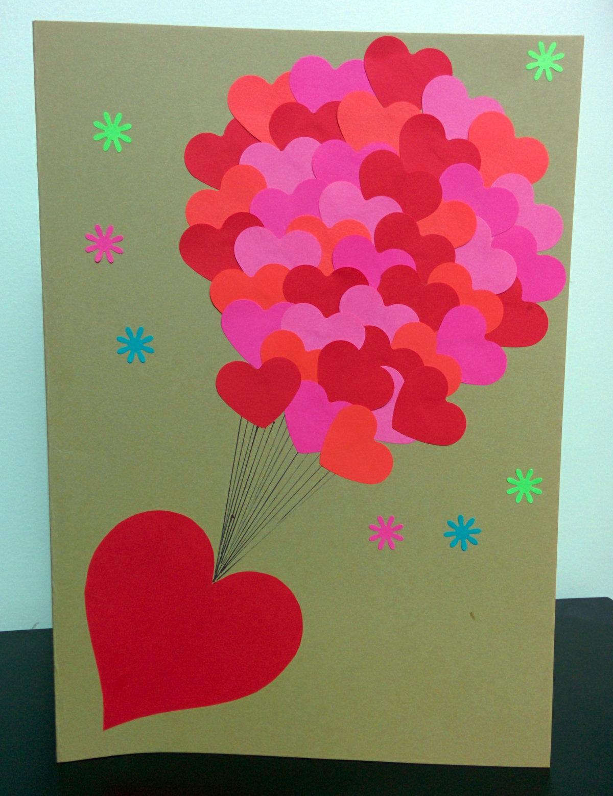 Самодельные открытки из цветного картона, днем