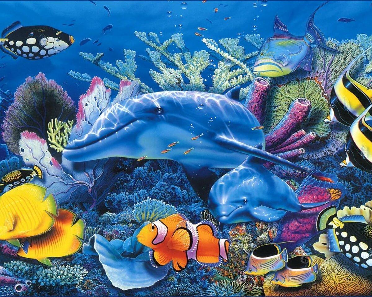картинки на рабочий стол рыбы океан получается