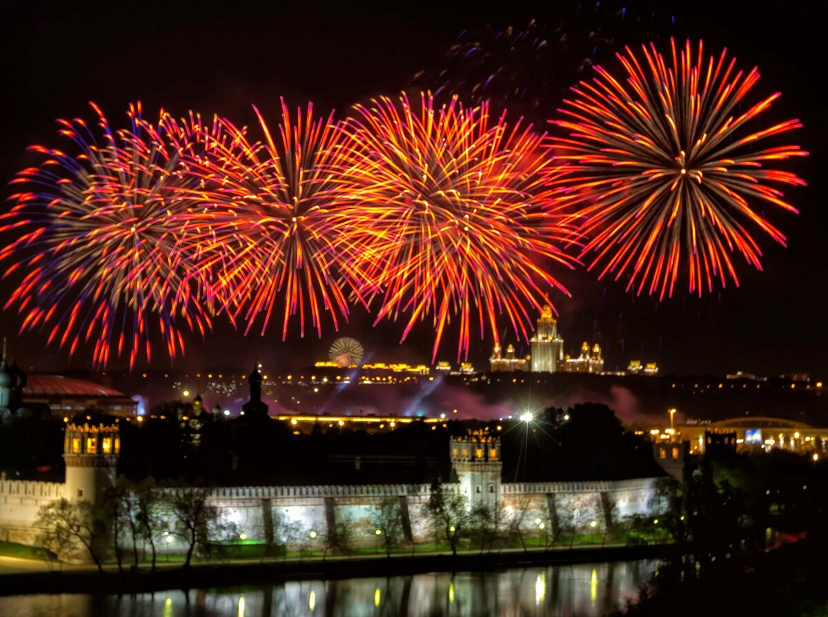 Поздравление, картинки праздничный салют на 9 мая
