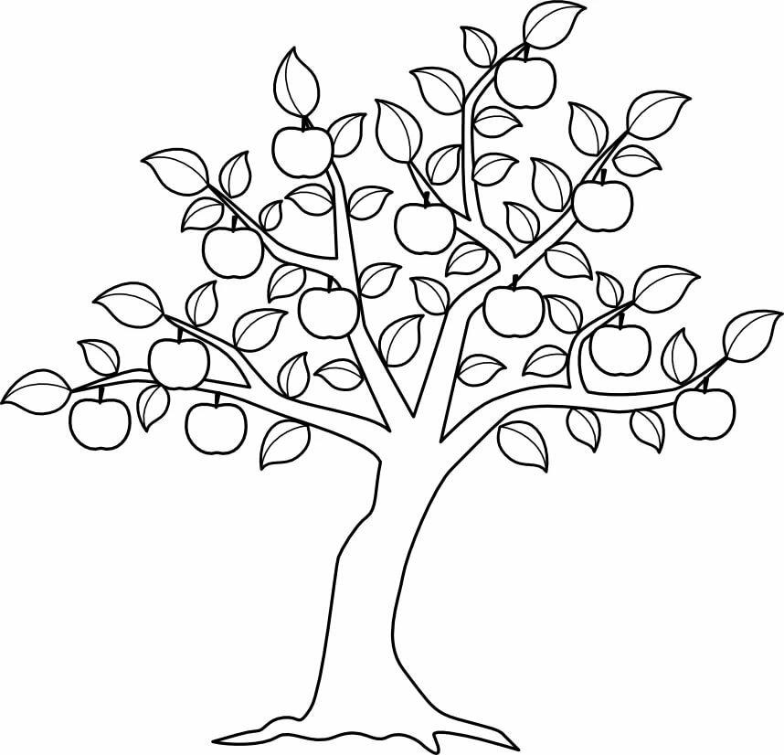 дерево рисунок распечатать машинную штукатурку