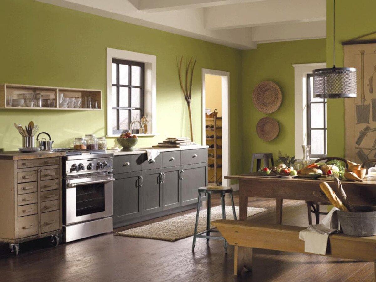 Цвет стен кухни сочетание цветов фото