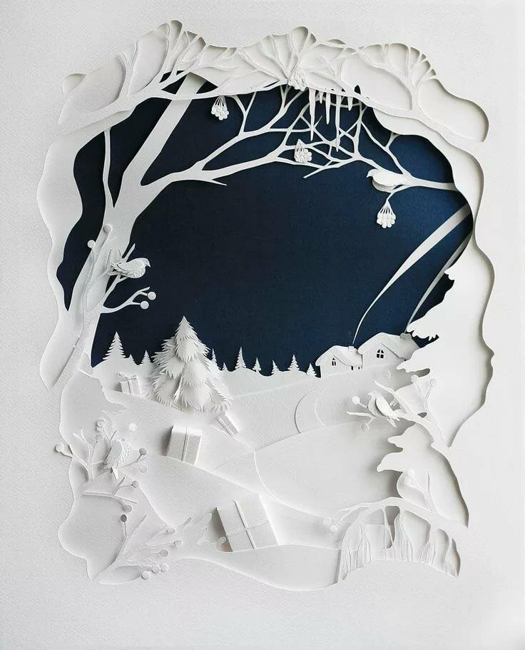 Бумагопластика на открытках