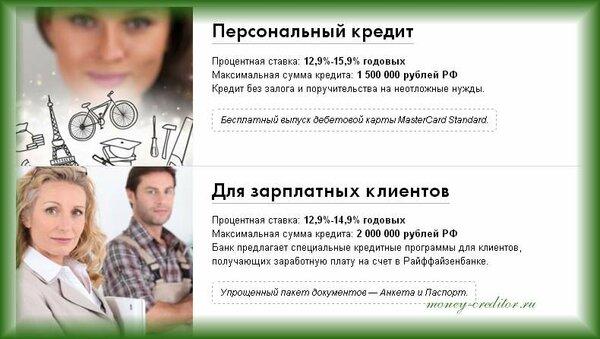 Кредитные ставки райффайзен банка