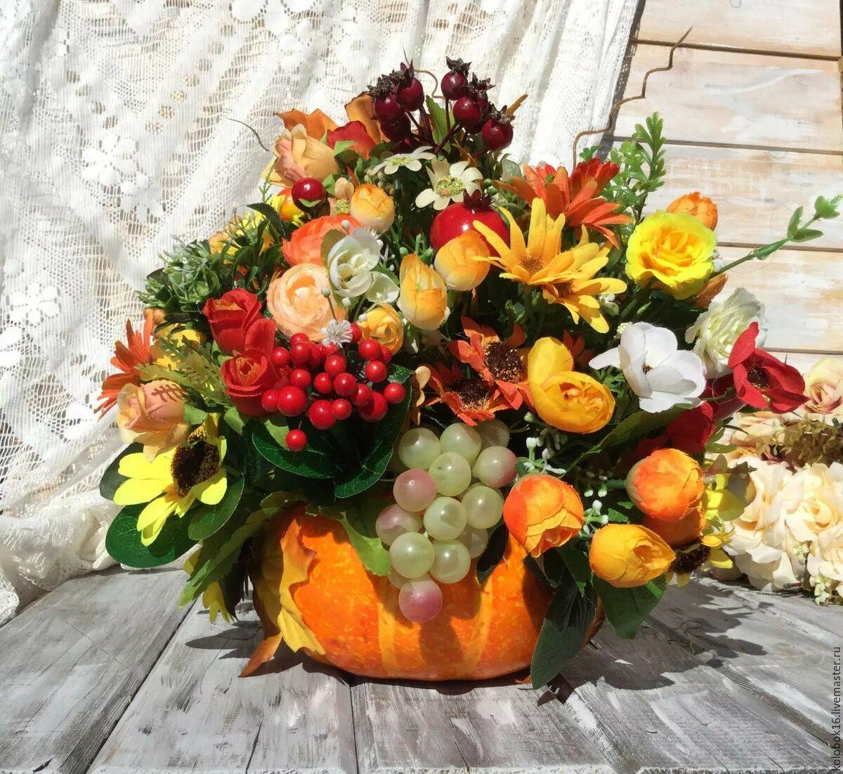 Купить, композиции букетов из осенних цветов фото