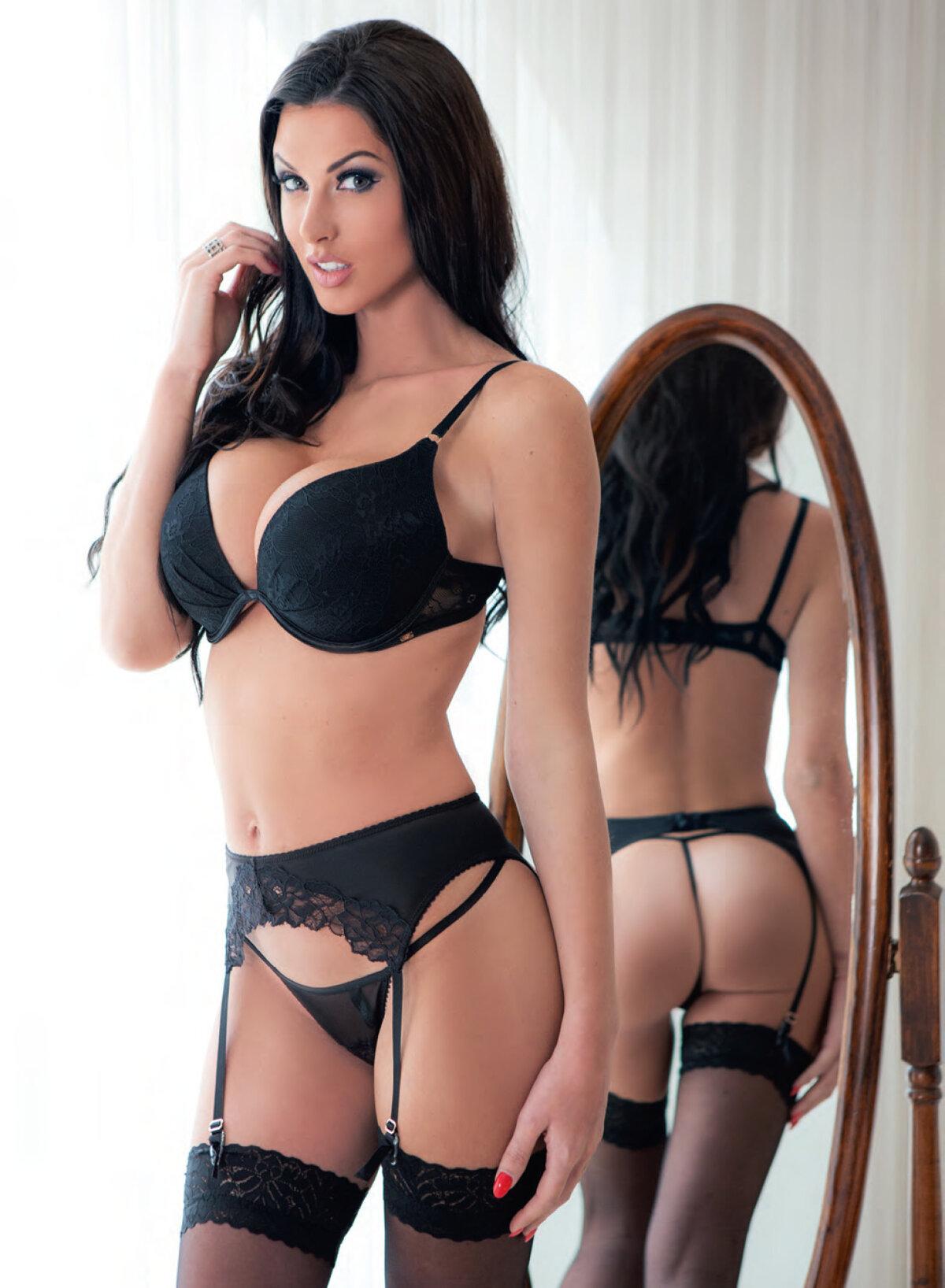 Monster asian big tits in black lingerie