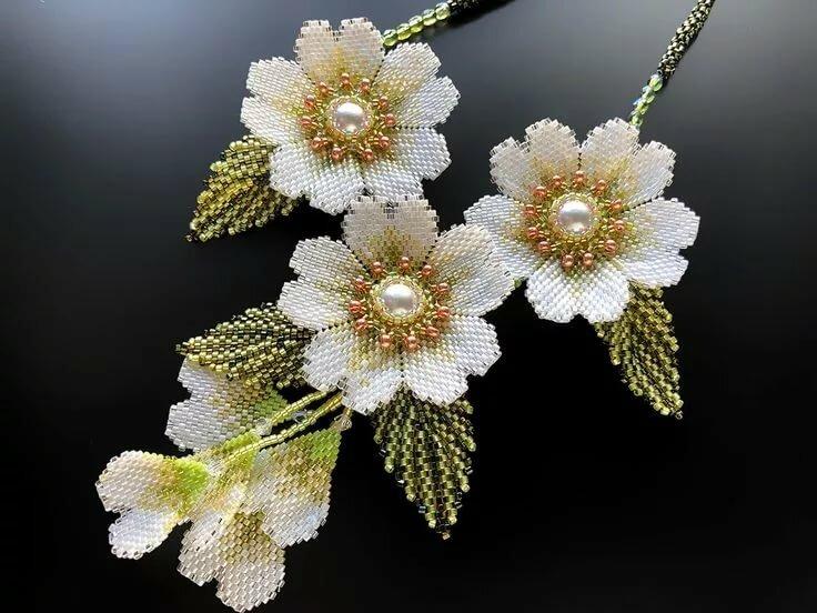 москве бисеры плетение картинка с цветами полном