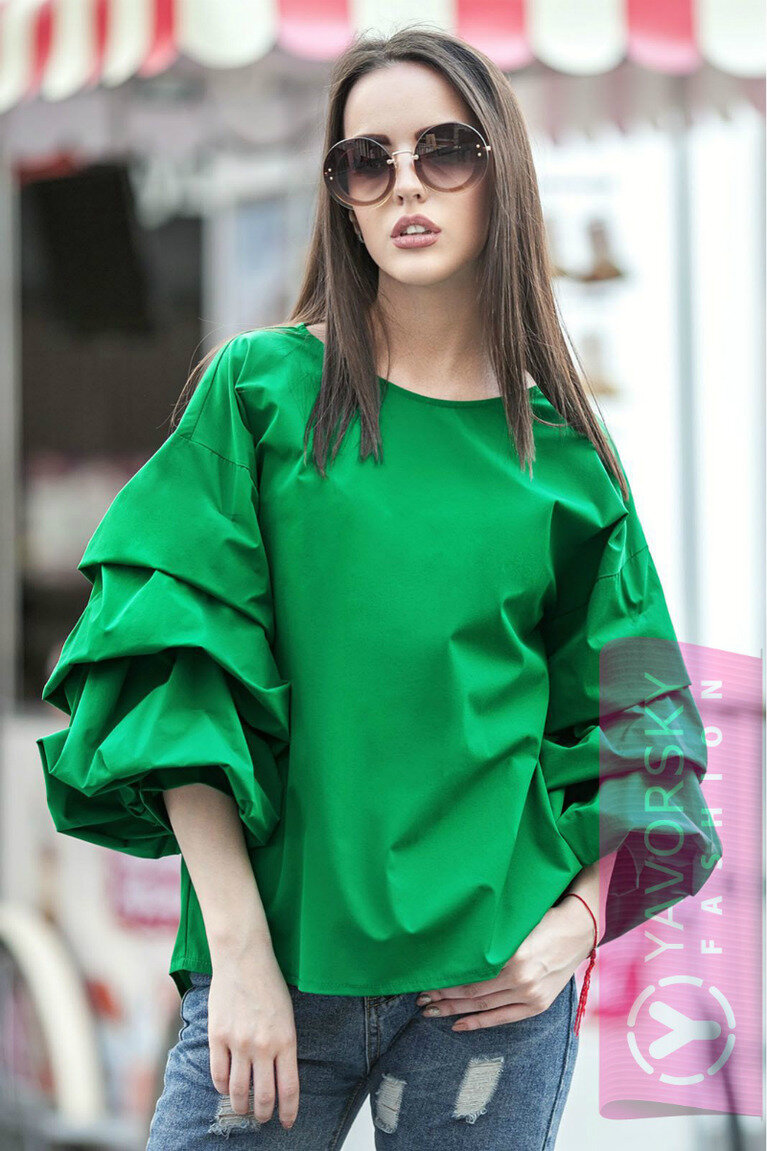 взглянуть объемная блузка с чем носить фото называют этот