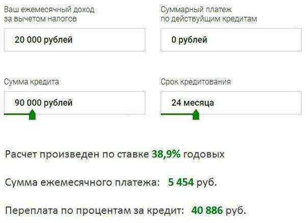 кредит в рузаевке без справок и поручителей срочно