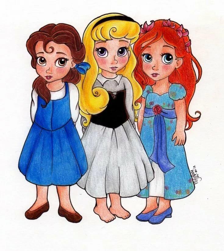 Картинки всех принцесс в детстве