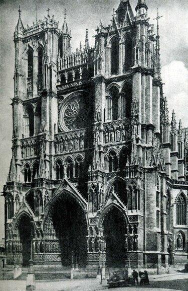 амьен собор готика фото фасад