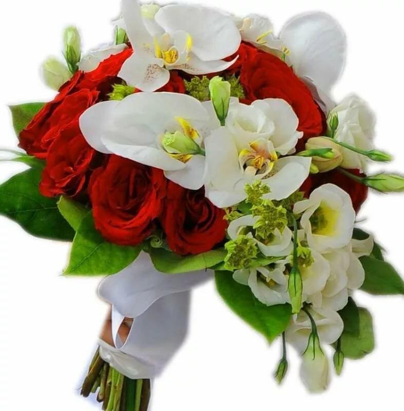 еще кого-то орхидеи и красные розы букет фото эркерное окно