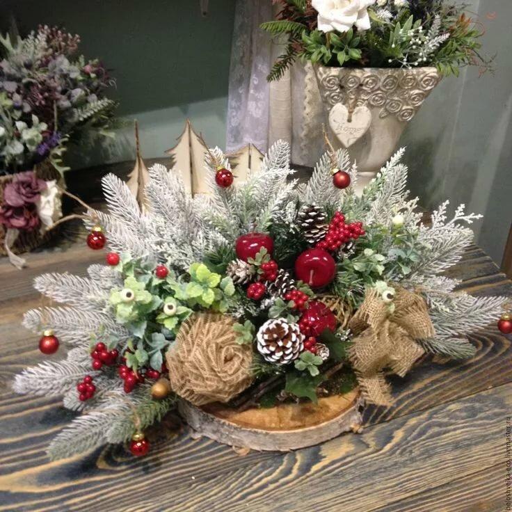 Симферополе, флористика букеты новогодние