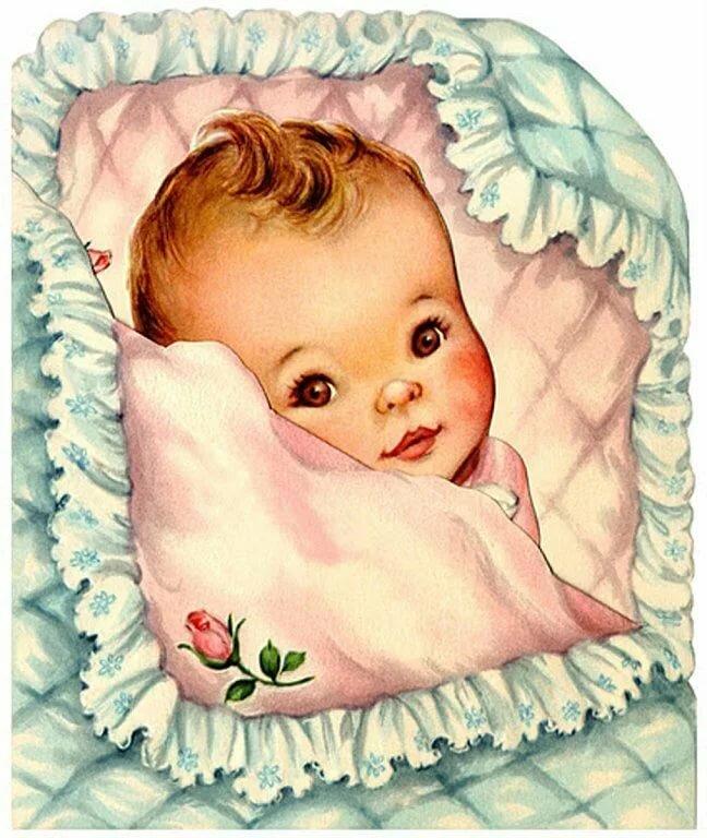 Младенец новорожденный открытки