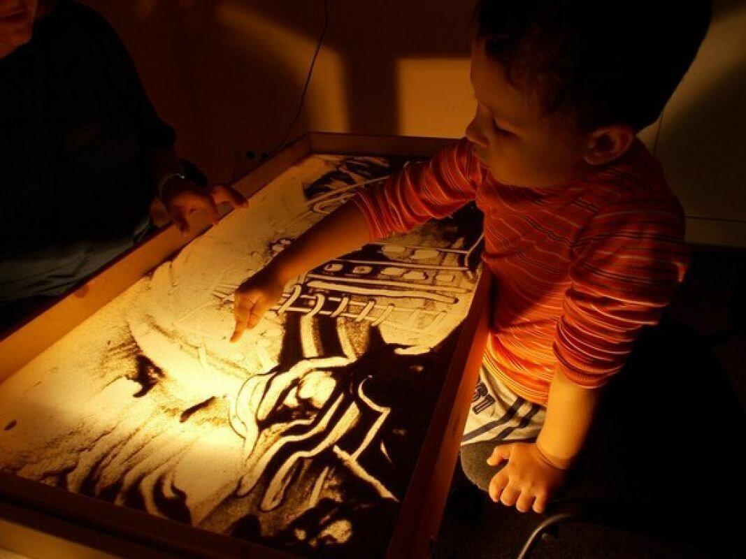 Детский светящийся планшет воображай песком в Сургуте