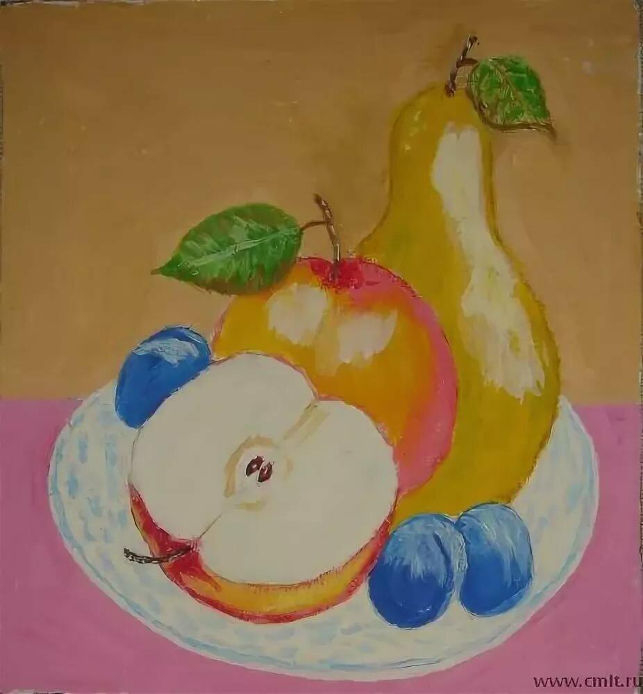 картинки для рисования натюрморта из фруктов ммс позволяет