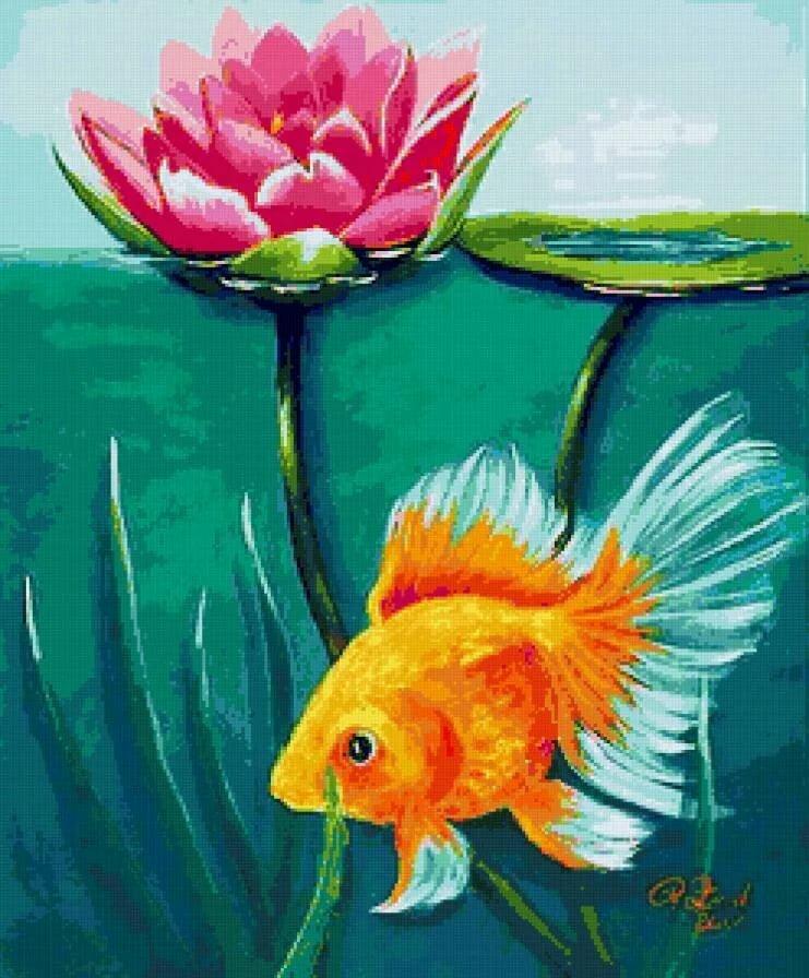 цветы картинки с рыбками что могу сделать