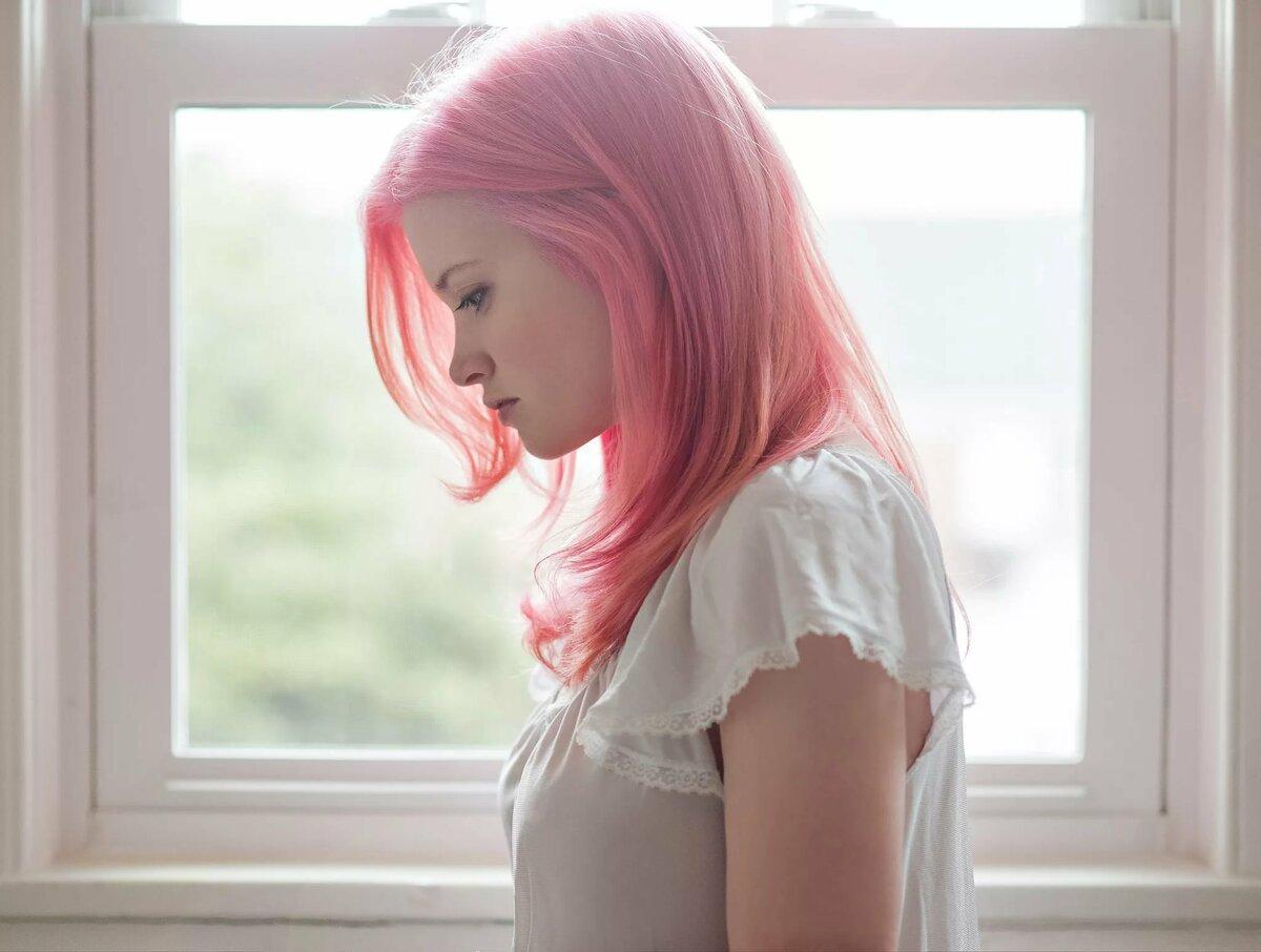 Картинка девочка розовый