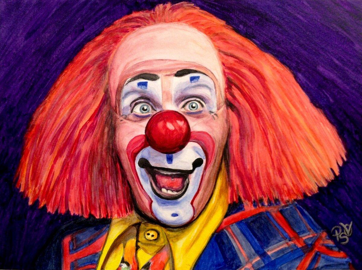 Портреты клоунов картинки