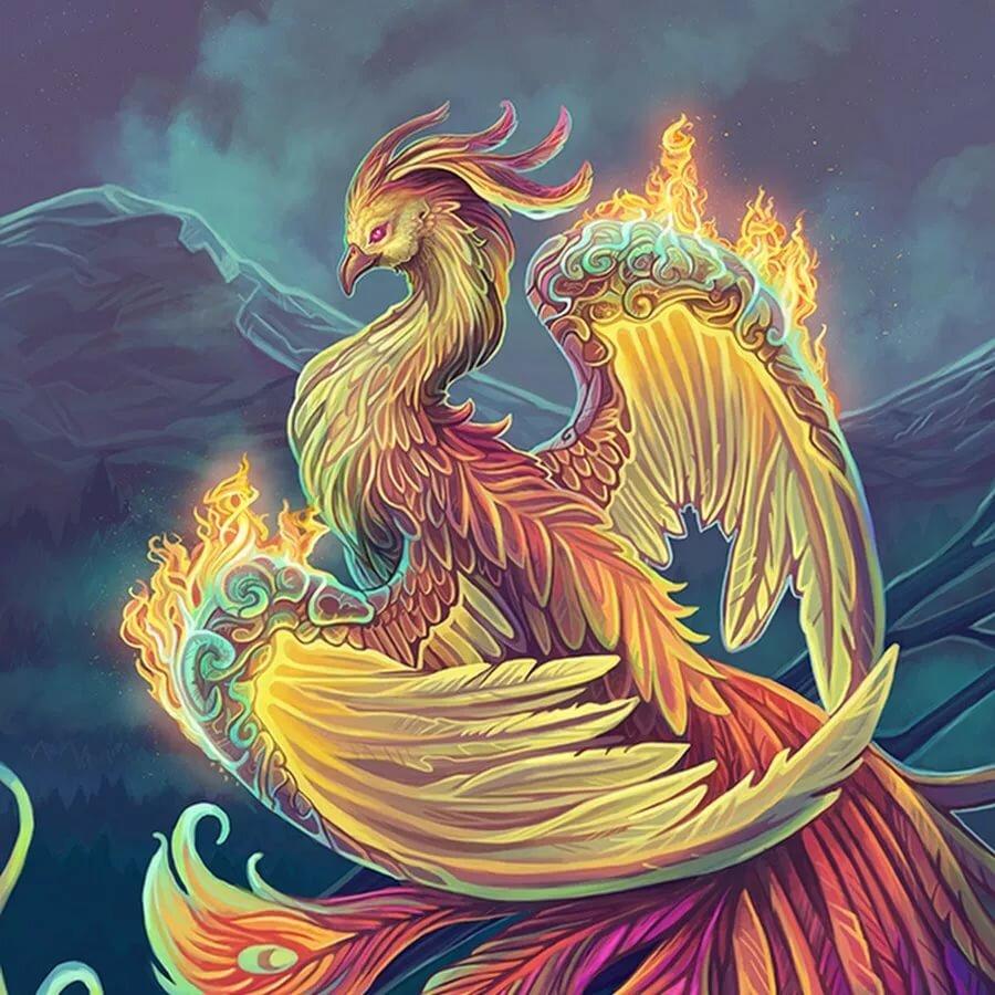 птица феникс восставшая из пепла картинки красивые