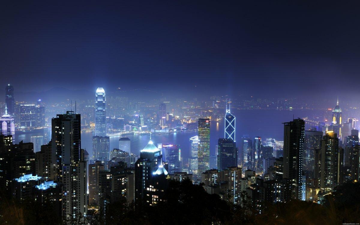 картинки для рабочего город ночью всего тканевые обои