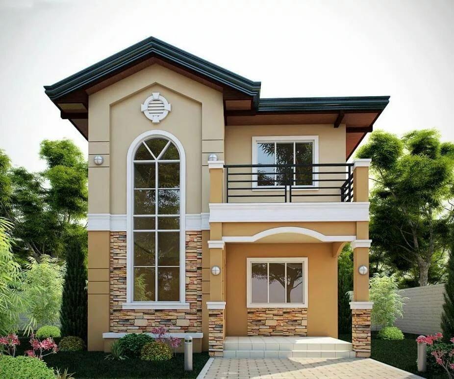 красивые фасады двухэтажных частных домов фото правило, таким
