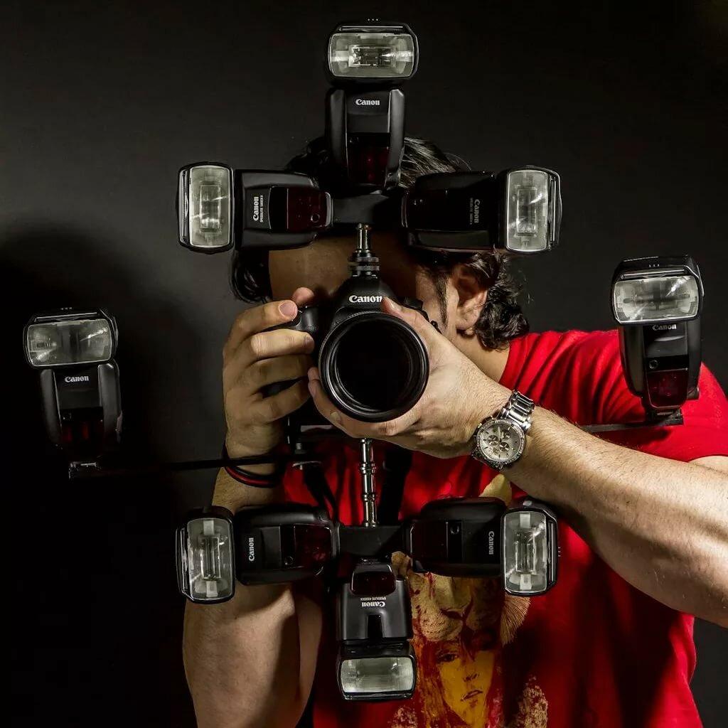 картинка фотоаппарата со вспышкой вот его семье