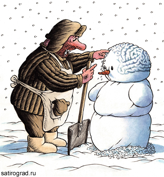 Прикольные рисунки на зиму