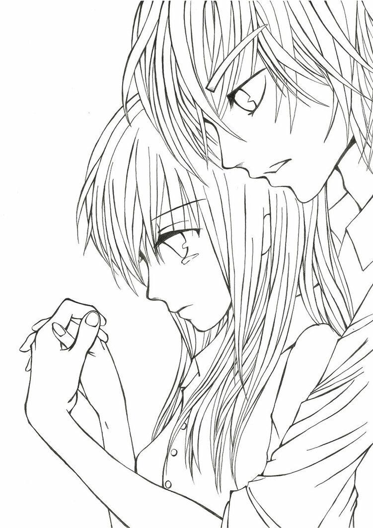Раскраска романтика парень и девушка