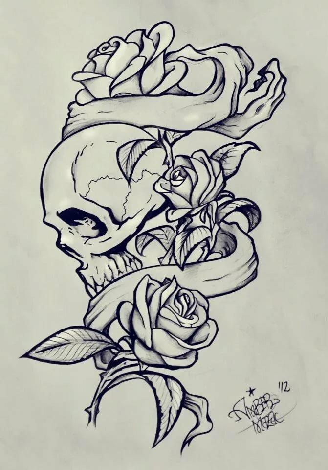 пурпурный рисунки с черепами и розами как получить малыша