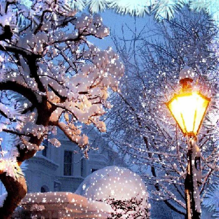 Детский сад, открытки падающего снега