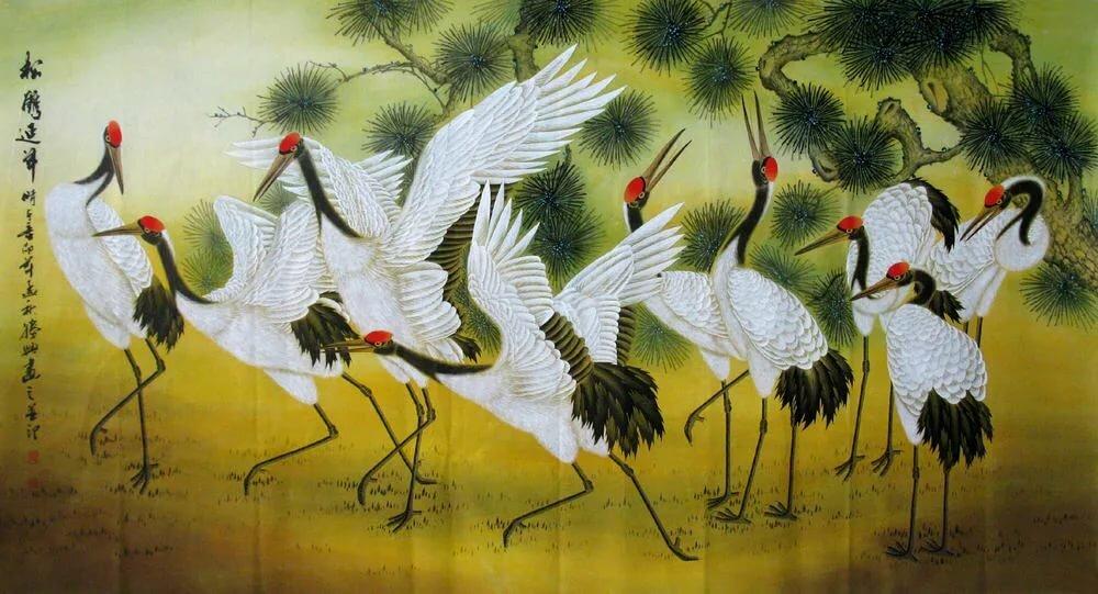 Картинки журавлей в китае