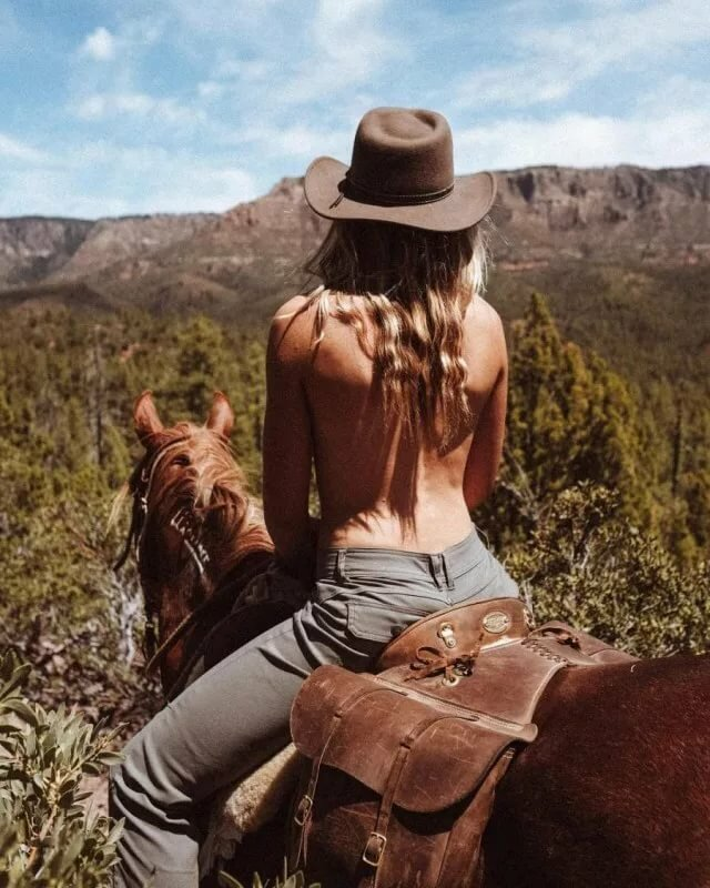 Cowboy and girl naked — img 3