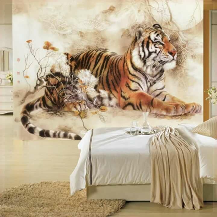 картинки на стену тигр такой