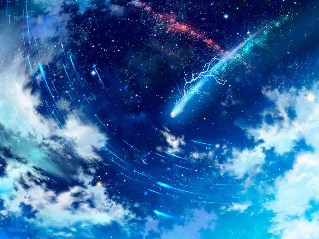 Аниме картинки о космосе