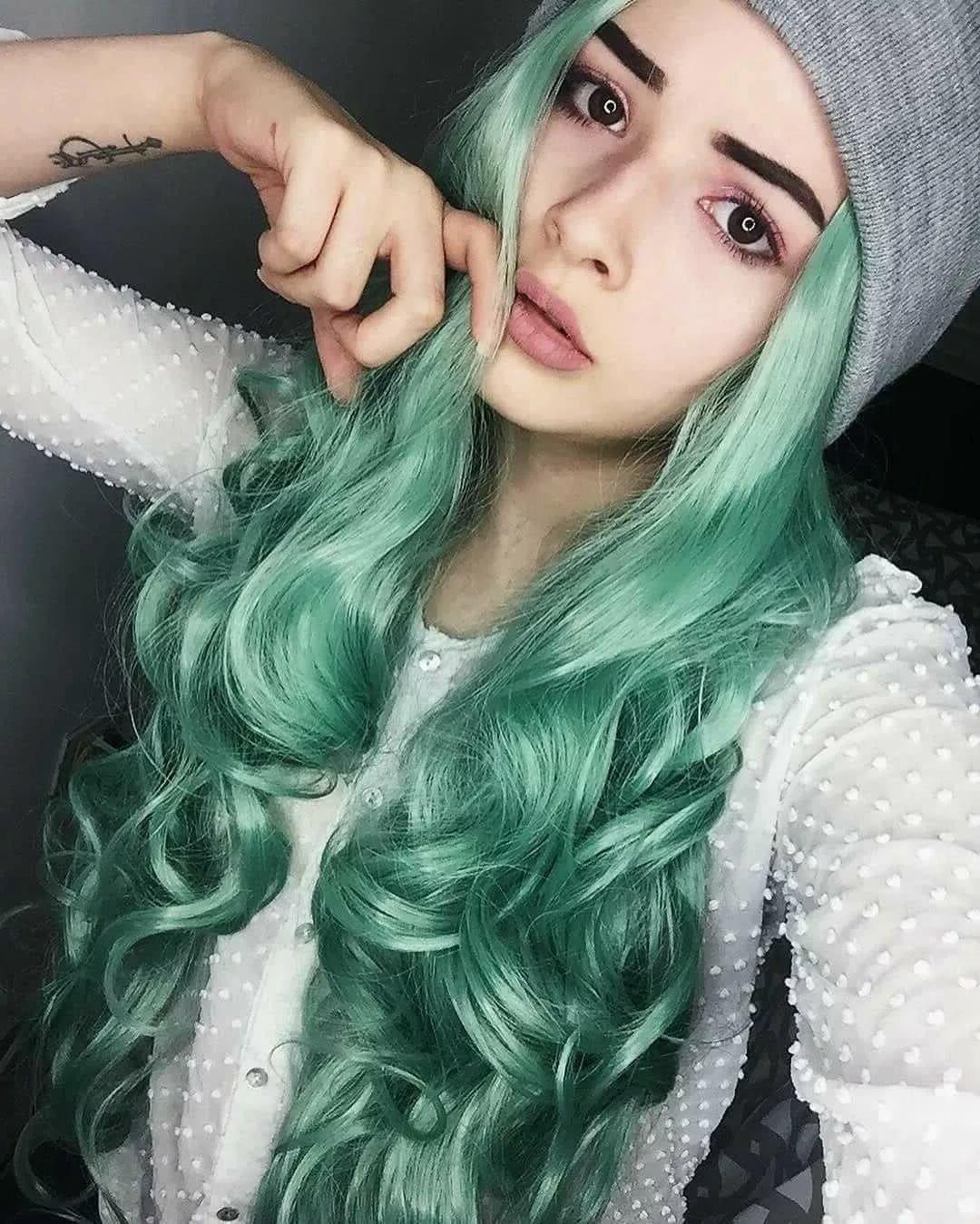 мятный цвет волос картинки дольменов так