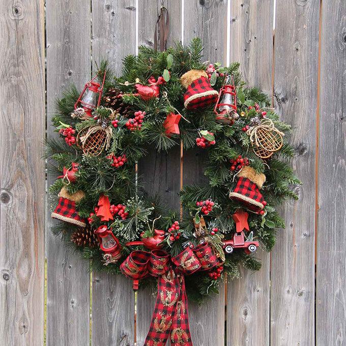 картинка новогоднего венка на двери земля, где
