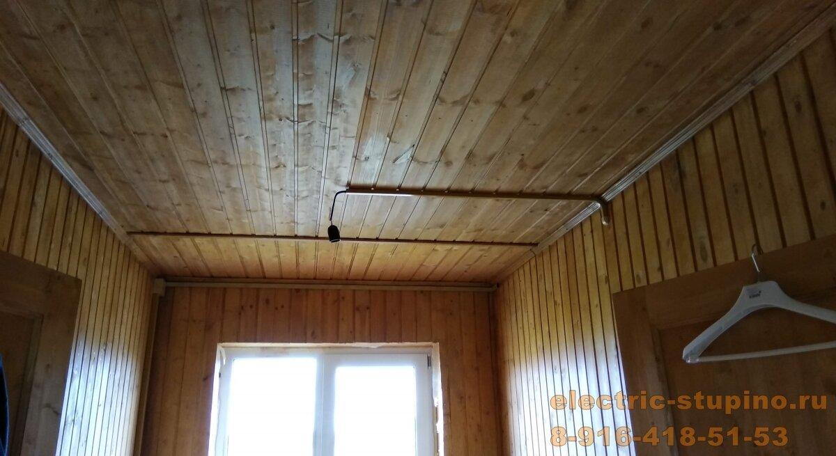 Монтаж электропроводки на даче для освещения