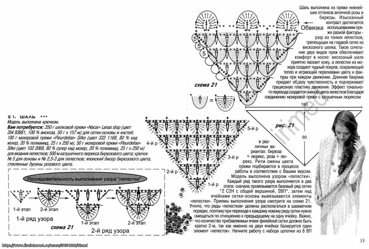 Рисунок крокодиловая кожа крючком схема