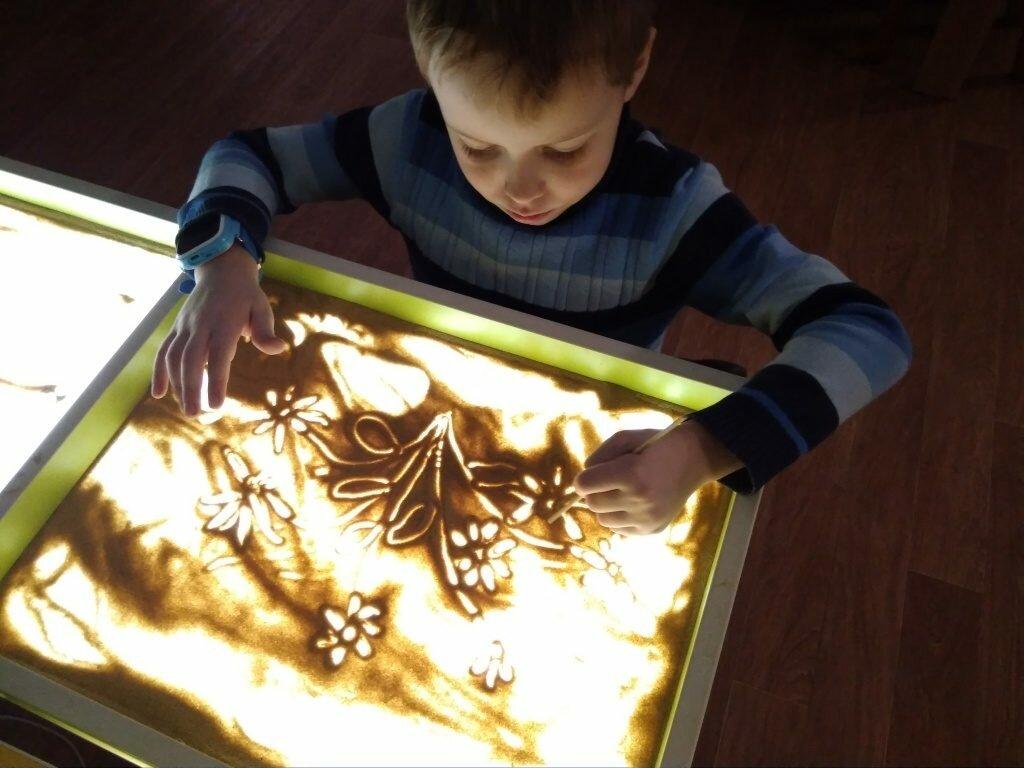 Детский светящийся планшет воображай песком в Энгельсе