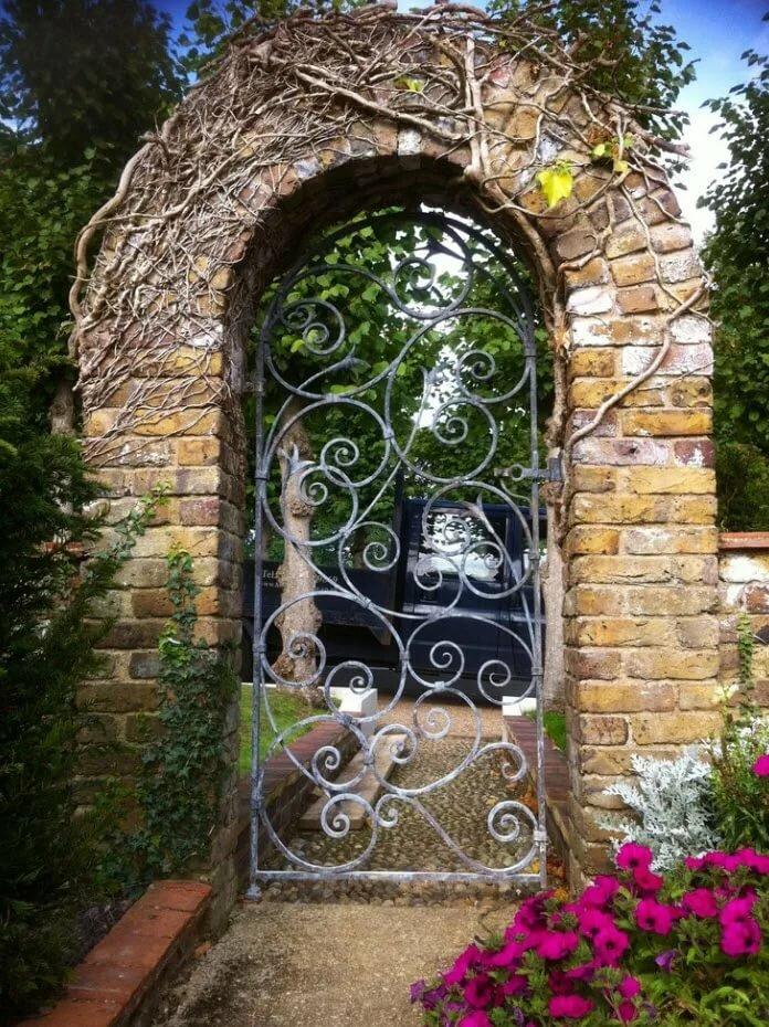 внимание арки для ворот частных домов фото биноклем