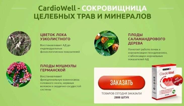 CardioWell от повышенного давления в Томске