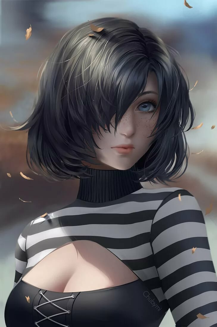 girl-with-short-black-hair