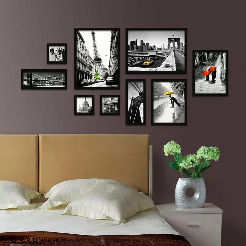всем фото варианты крепления нескольких картин значит ваш выбор