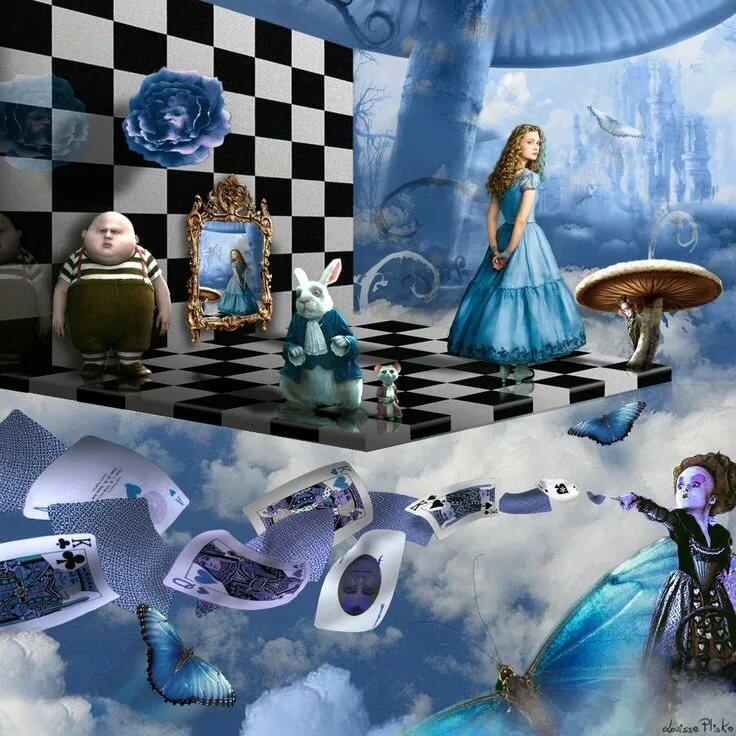 Картинка с шахматами из алисы в стране чудес