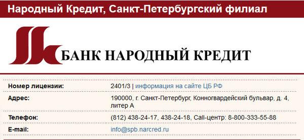 Народный банк как взять кредит совкомбанк спб взять кредит