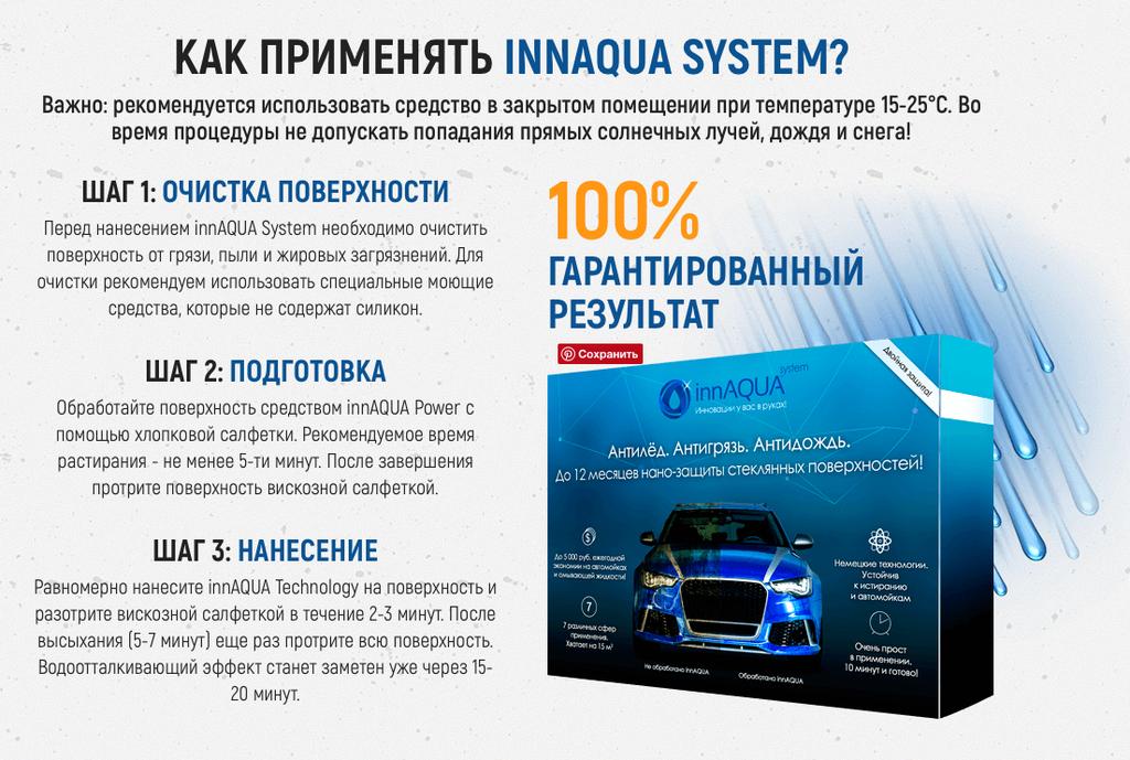 InnAqua System - антигрязь, антидождь, антиналедь в Харькове