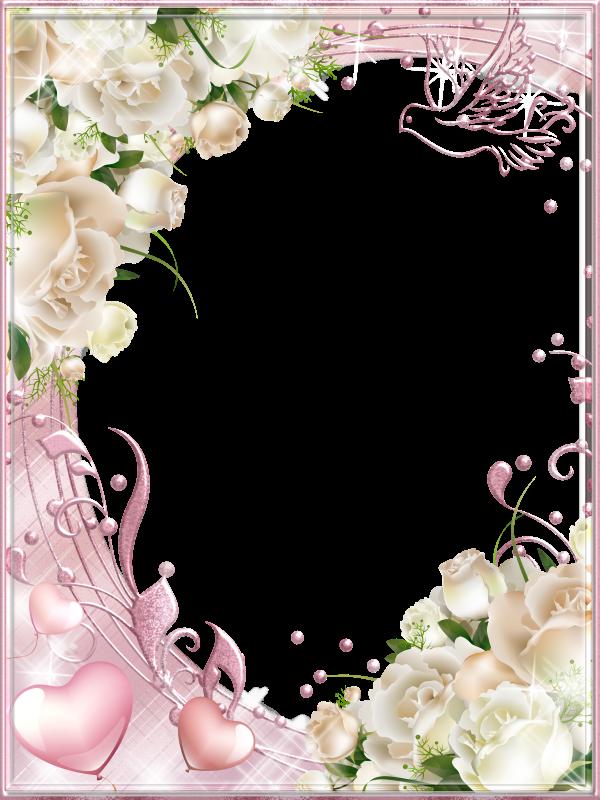 Рамка с днем свадьбы открытка