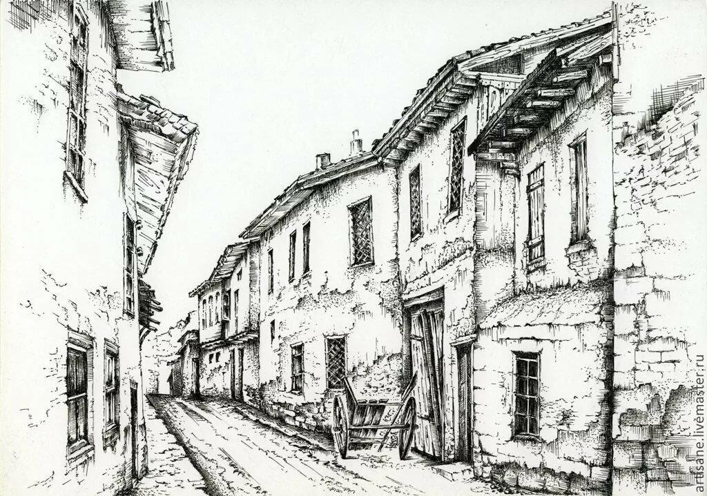 старые города рисунки диагностическое обследование