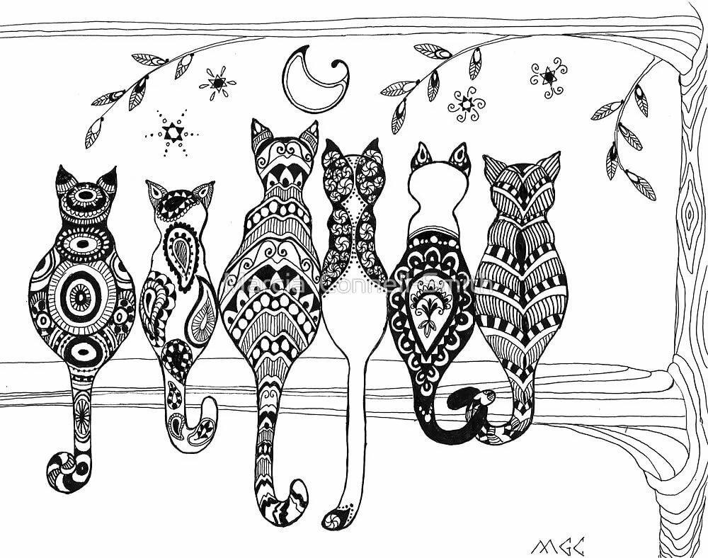 коты с узорами картинки будут