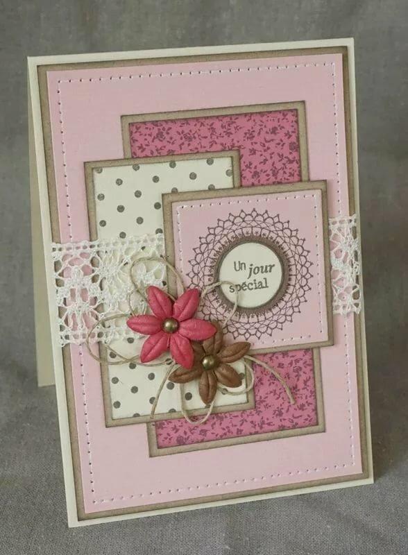 Скрапбукинг открытка бабушке, праздника февраля открытки